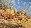 Childe Hassam - Building a Schooner, Provincetown.JPG