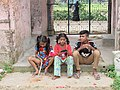 Children in front of Nawab Faizunnesa House at Laksham, Comilla, 19 April 2017.jpg