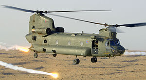 Chinook Releases Flares over Afghanistan MOD 45149667.jpg