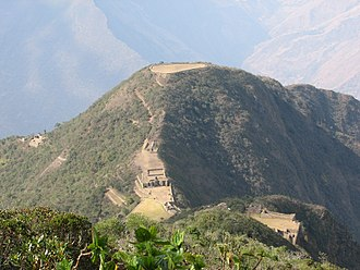 Choquequirao - Truncated hill top at Choquequirao