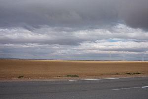 Chott el Hodna - Landscape of the Chott el Hodna
