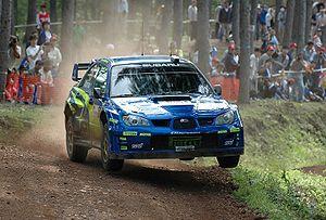 Rally Japan - Chris Atkinson driving his Subaru Impreza WRC in 2006.