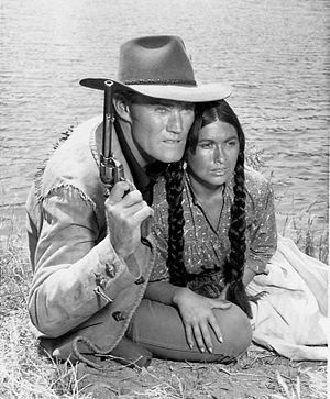Branded (TV series) - Connors as Jason McCord and guest star Anna Morrell, 1965
