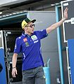 Ciao! Italian professional motorcycle racer and multiple MotoGP World Champion Valentino Rossi waving his hand to the fans... (33335717926).jpg