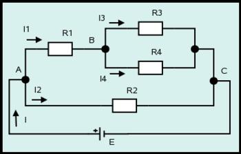 Figura 3: Ejemplo de circuito resistivo de fuente única.