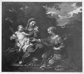 Maria mit Kind und der hl. Martha von Astorga