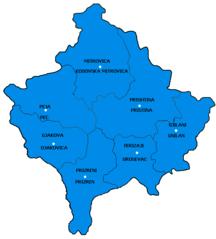 Kosovo-Suddivisioni-Citys of Kosova