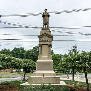 Easton, Massachusetts - Civil War memorial at the intersection of Depot and Center Streets.
