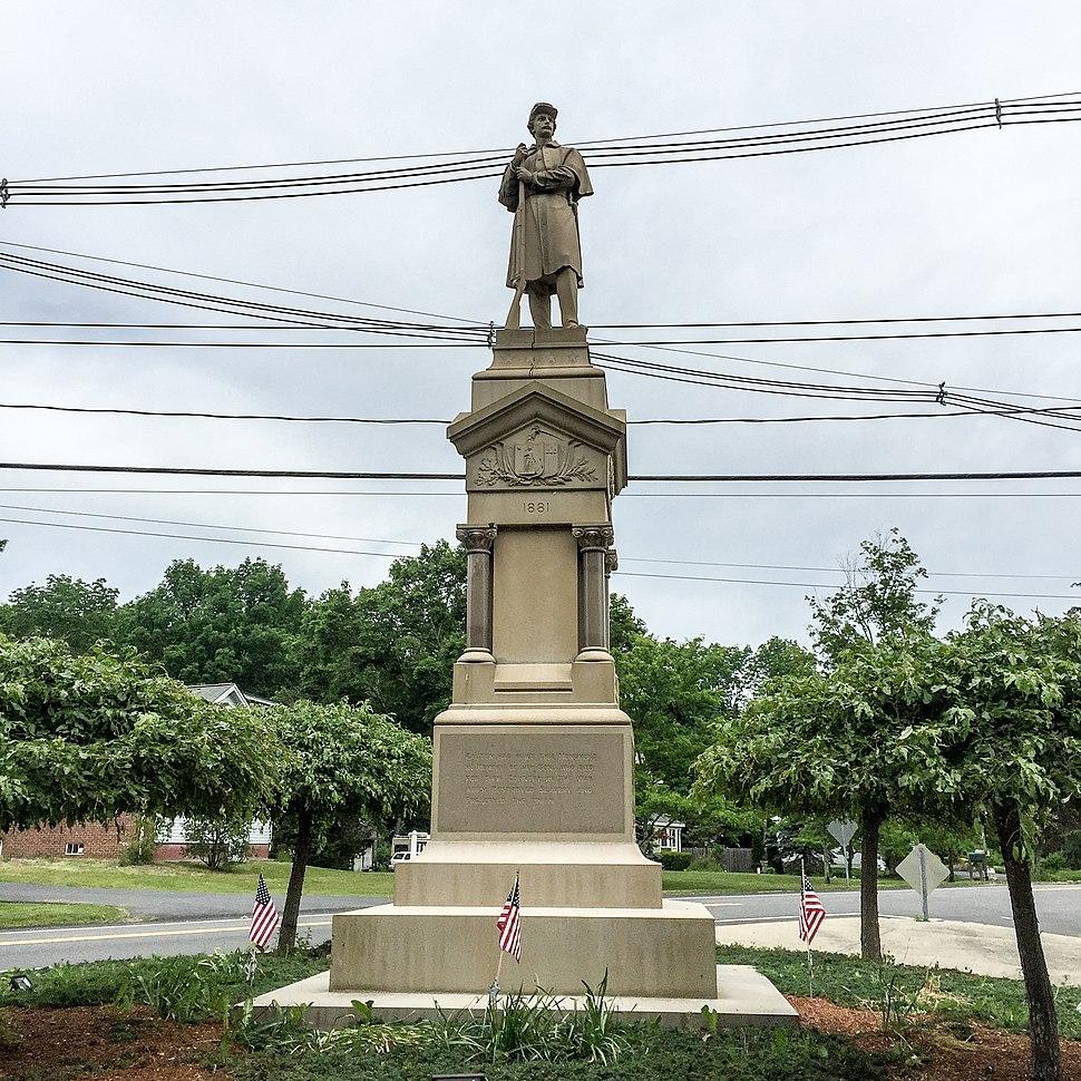 Civil War Memorial in Easton, Massachusetts