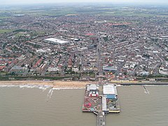 Clacton-on-Sea from the air
