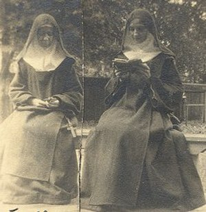 Regina Coeli Monastery - Mother Clare (left) and Mother Aloysius, who together founded the first Carmel in the Midwest.