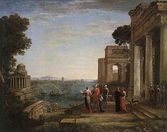Ascanius Shooting the Stag of Sylvia - View of Carthage with Dido and Aeneas, 1676, Kunsthalle, Hamburg