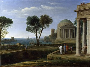 Liber Veritatis - Landscape with Aeneas at Delos, National Gallery, 1672