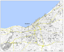 Map Of Villages And Other Land Annexed To The City Of Cleveland