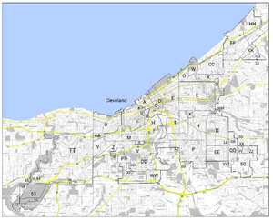 Timeline of Cleveland history - Map of Territorial Changes to the City of Cleveland