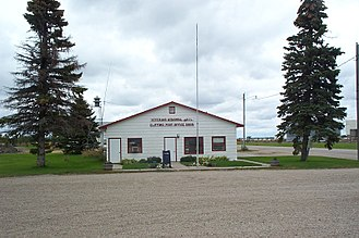 Clifford, North Dakota - Post Office and Vet's Hall
