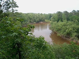 Cliffs of the Neuse State Park - The Neuse River seen from the cliffs above