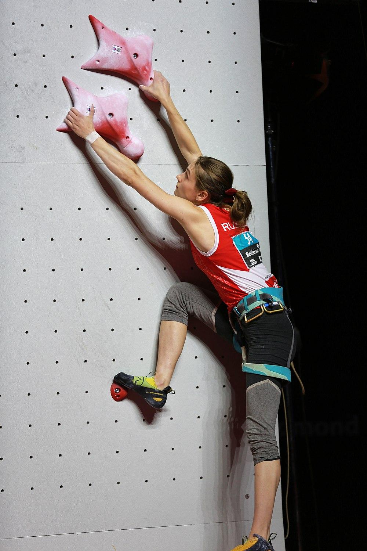 Mariia Krasavina at the Climbing World Championships 2018 Speed Semifinals