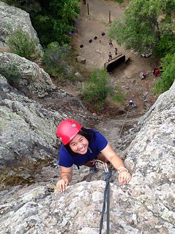 Climbing at malibu creek state park with rock n rope adventures