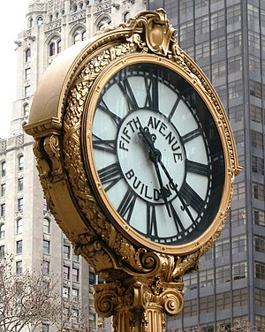Flatiron District - Clock at 200 Fifth Avenue