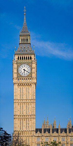 Big Ben - Image: Clock Tower Palace of Westminster, London May 2007