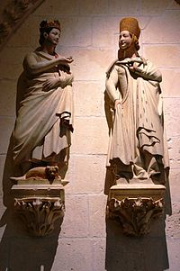 Cloister - St. Ferdinand and Beatrice of Swabia - Cathedral of Burgos.JPG