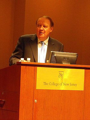 Richard Codey speaking at The College of New J...