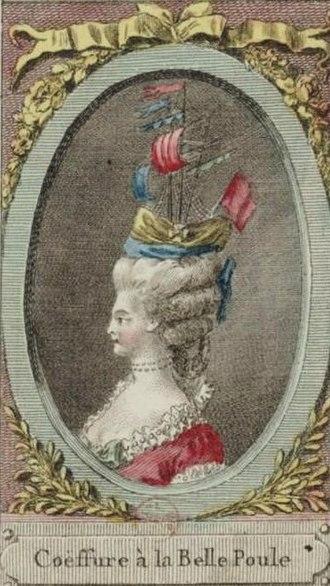 Action of 17 June 1778 - Belle Poule coeffure