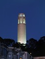 Coit Tower at dusk, San Francisco, California LCCN2011633068.tif