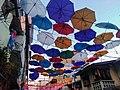 Colorful umbrellas in a barangay fiesta in Mandaluyong City.jpg