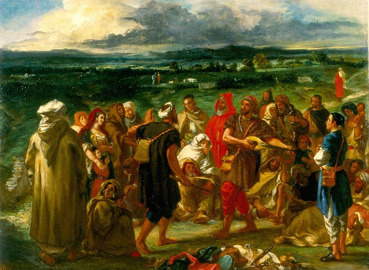 File Comediens Ou Bouffons Arabes Peinture De Delacroix De 1848 Jpg Wikimedia Commons