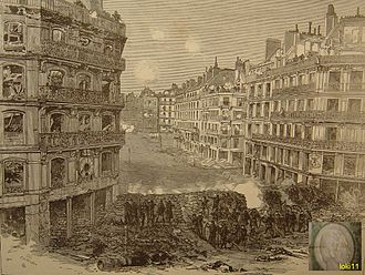 Victor Hugo - Communards defending a barricade on the Rue de Rivoli
