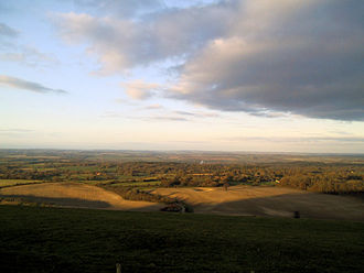 Berkshire - View from Combe Gibbet, looking north over the Kennet Valley