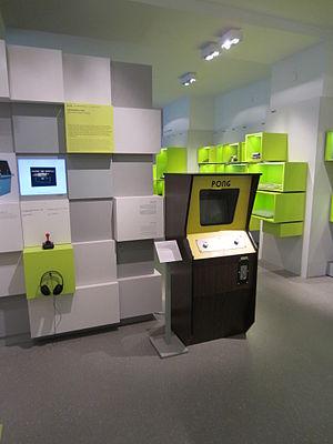 Computerspielemuseum Berlin - Exhibited consoles including arcade machines