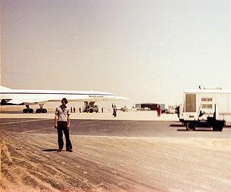 Sharjah International Airport - 20 August 1977, Concorde 202 at Sharjah Airport.