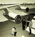 Convair 880 engine with engineers.jpg