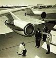 Convair 880 engine with engineers.jpg