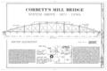 Corbett's Mill Bridge, Spanning Maquoketa River at abandoned county road, 3 miles northeast of Scotch Grove, Scotch Grove, Jones County, IA HAER IOWA,53-SCOG.V,1- (sheet 1 of 3).png