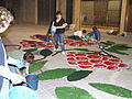 Corpus Christi flower carpet in Tamarite 2006-025.jpg