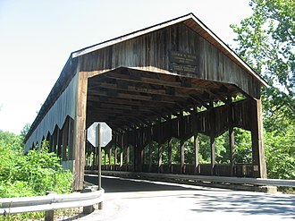 Corwin M. Nixon - Western end of the Corwin Nixon Covered Bridge