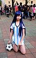 Cosplayer of Chihaya Kisaragi, The Idolmaster at PF23 20151025a.jpg