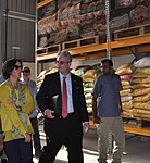 Country Director World Food Program Lola Castro and U.S. Consul General Zachary Harkenrider touring the facility (16795698124).jpg