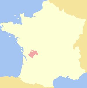 Angoumois - Image: County of Angoulême