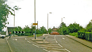 Cowley railway station - Site of the station in 1986