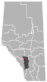 Cremona, Alberta Location.png