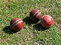 Cricket balls at Church Times Cricket Cup final 2019 1.jpg