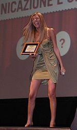 Cristina Chiabotto premiata al Grand Prix Pubblicità Italia 2007