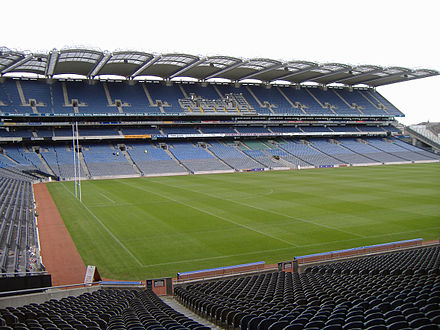 Croke Park stadium is the headquarters of the Gaelic Athletic Association. Croke park hogan stand.jpg