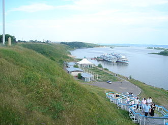 River cruise - River cruise ships in Bolghar, Tatarstan, Russia