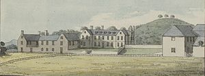 Gregynog Hall - Grygynnog house, before it was rebuilt in the 1840s